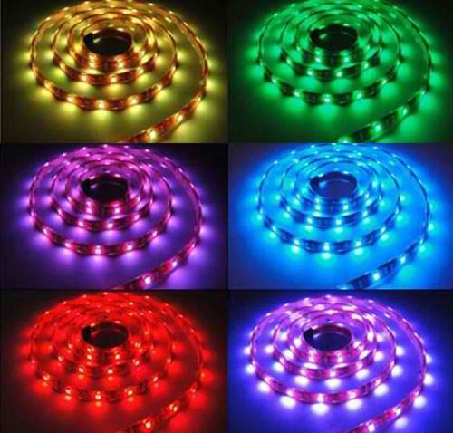 Banda LED flexibila, SMD 5050, 12V DC, 14.4W/m, 60 led-uri/m, RGB, 5m, nerezistenta la apa