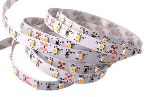 Banda LED flexibila, SMD5050, 12V DC, 7,2W/M, 30 LED-uri/m, alb cald, 5m, nerezistenta la apa-980