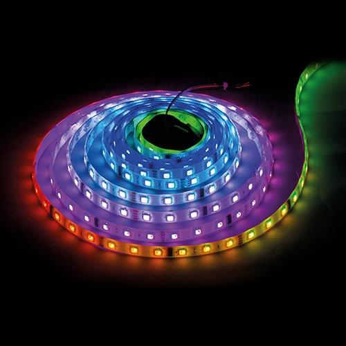Banda LED digitala, SMD5050, 12V DC, IC D7722, 16pixels/m, 11.2W/m, 5m, nerezistenta la apa-0