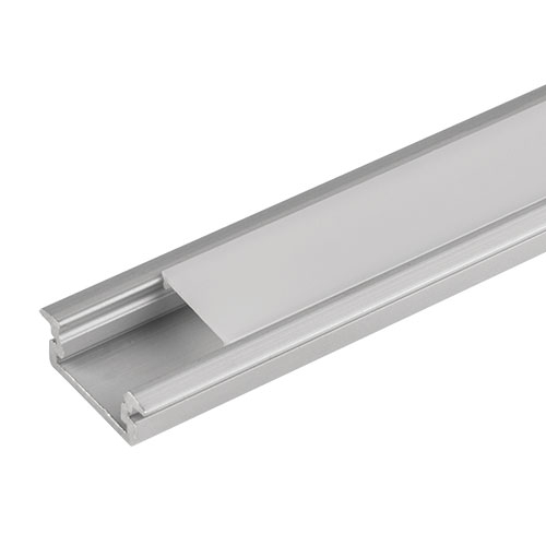 PROFIL DE ALUMINIU PENTRU BENZI FLEXIBILE CU LED, DE MICA ADANCIME, 2M
