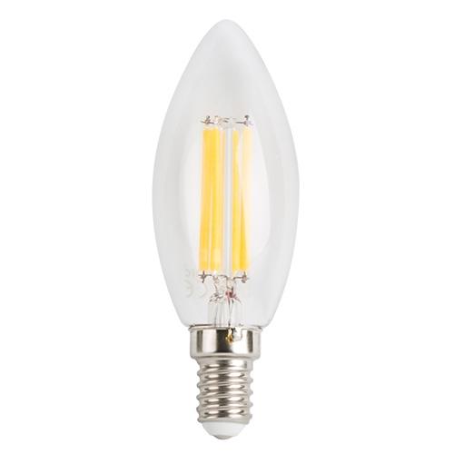 BEC LED CU FILAMENT, CON, 4W, E14, LUMINA CALDA-0