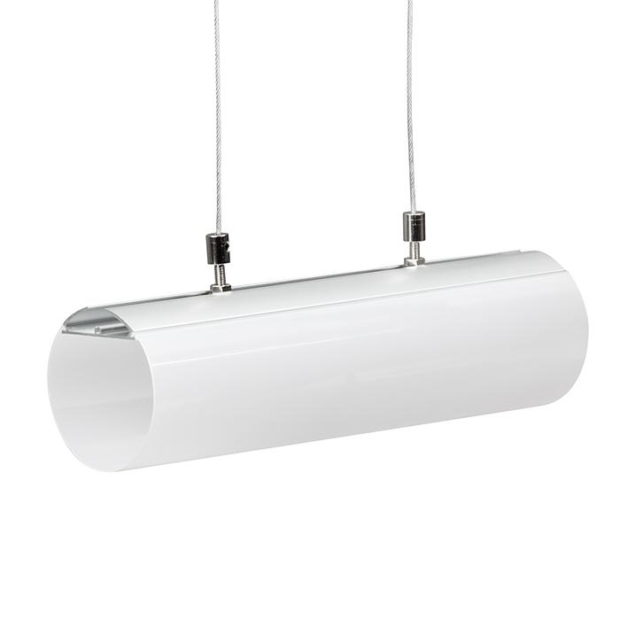PROFIL DE ALUMINIU PENTRU BENZI FLEXIBILE CU LED, CILINDRU Ø 60MM, 2M