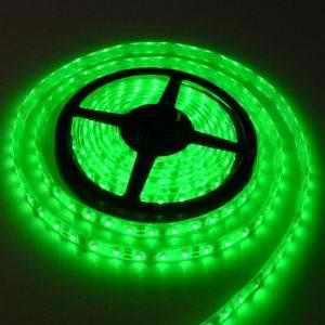 Banda LED flexibila, SMD2835, 12V DC, 4.8W/M, 60LED-uri/M, verde, 5m, nerezistenta la apa-0