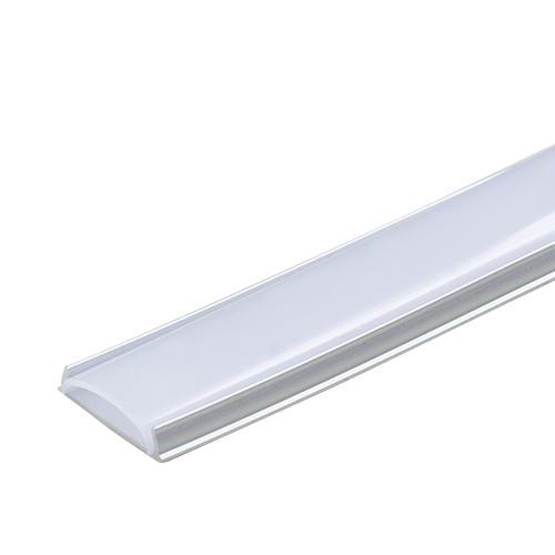 PROFIL DE ALUMINIU PENTRU BENZI FLEXIBILE CU LED, DE MICA ADANCIME,FLEXIBIL, 2M