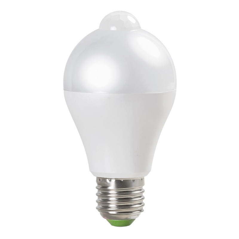 Bec LED inteligent cu senzor infrarosu (PIR),  6W,  E27, 4200K, lumina neutra