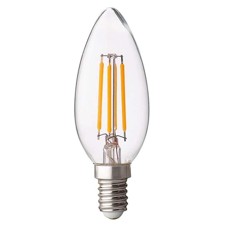 BEC LED, Filament Dimabil 4W, E14,  4200K, lumina neutra