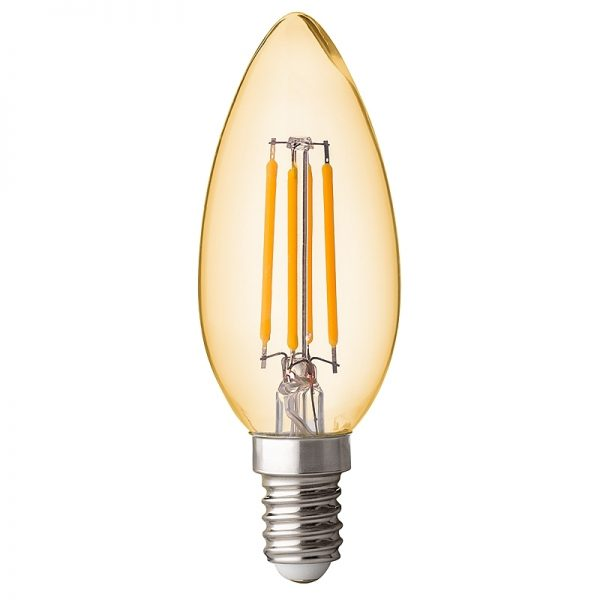 BEC LED, Filament Dimabil 4W, E14, 2500K, Amber-0