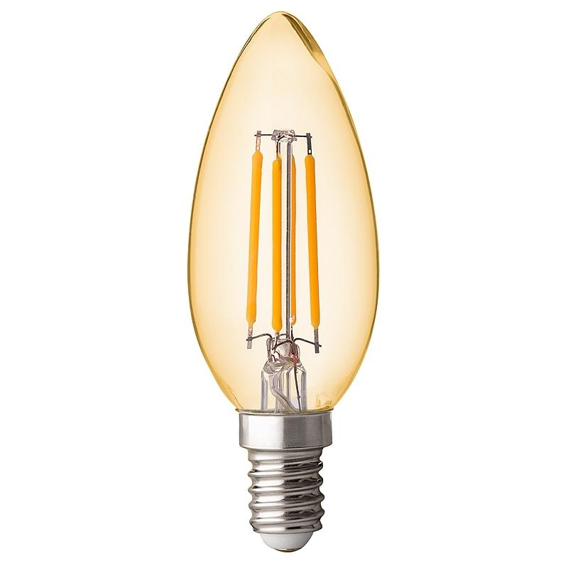 BEC LED, Filament Dimabil 4W, E14,  2500K, Amber