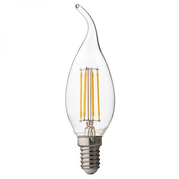 BEC LED, Filament Dimabil flame 4W, E14, 4200K, 220V AC-0