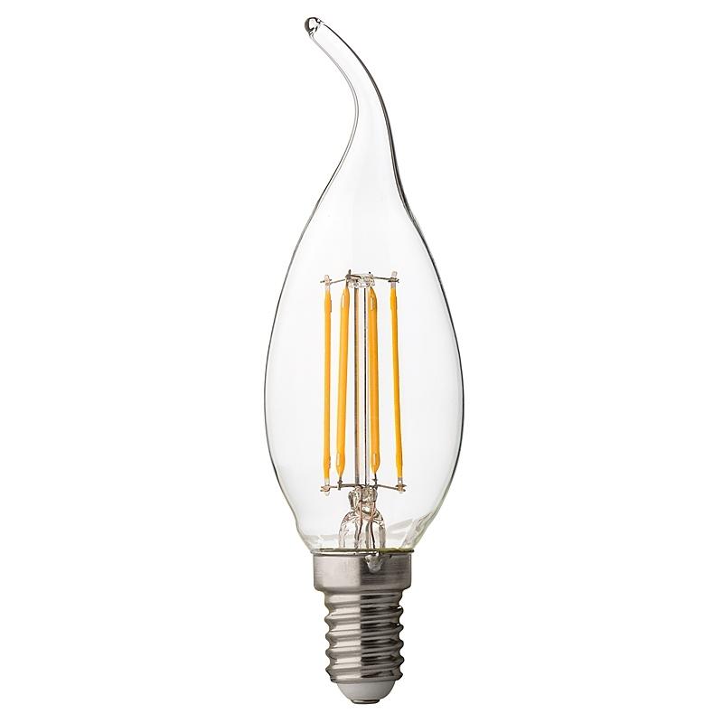 BEC LED, Filament Dimabil flame 4W, E14, 4200K, 220V AC