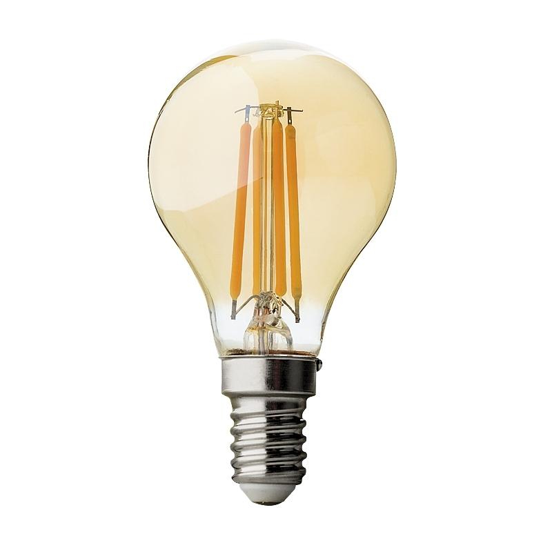 BEC LED, Filament Dimabil 4W, E14, 2500K, 220V AC, amber